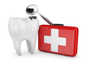 A dental emergency.
